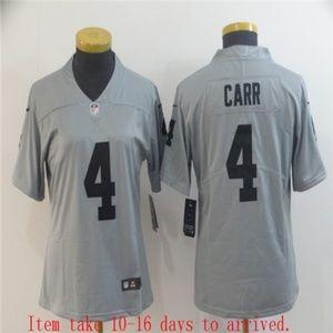 Women Raiders #4 Derek Carr Jersey Inverted